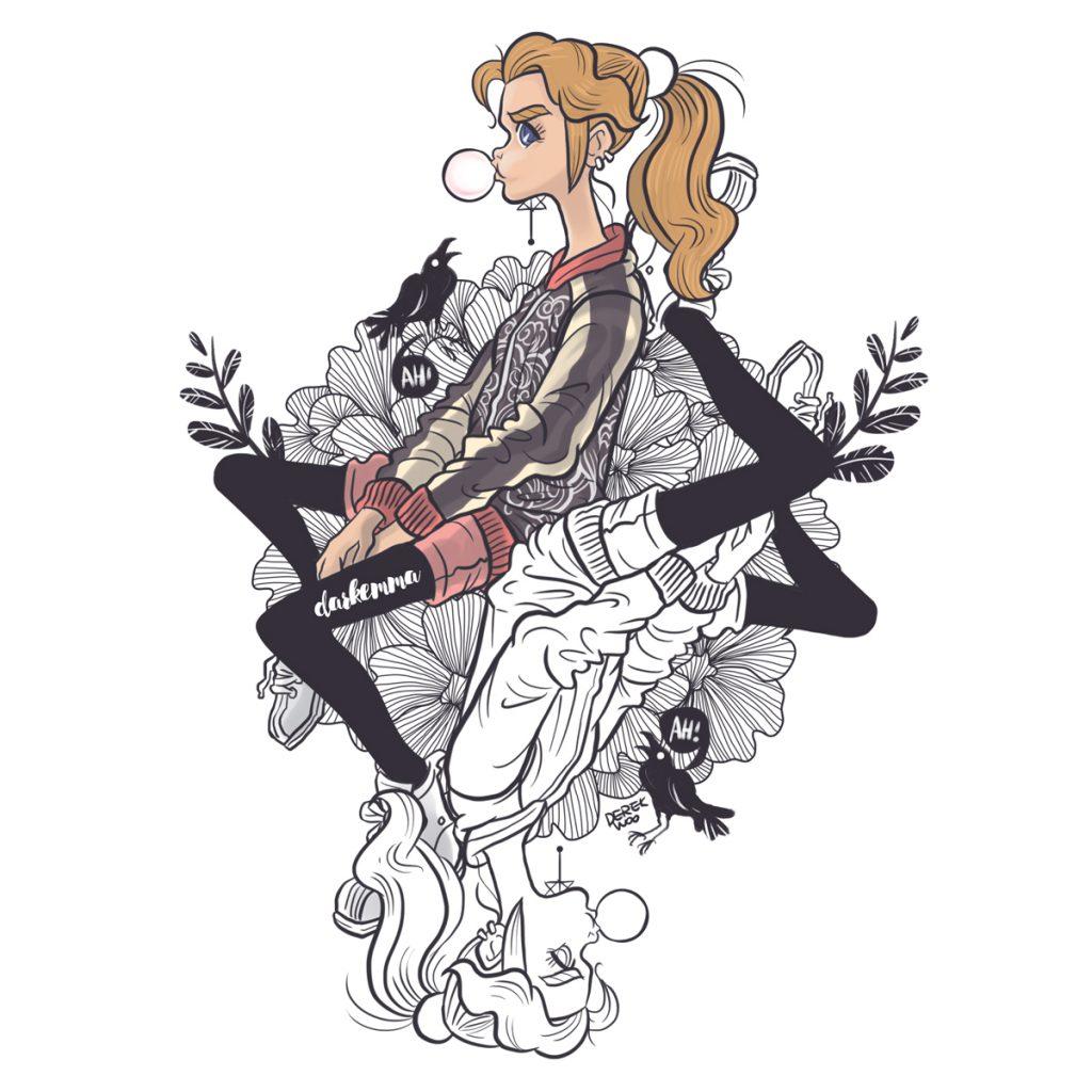 Dark Emma Character illustration